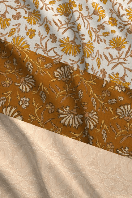 Golden Haze Designer Fabric Collection