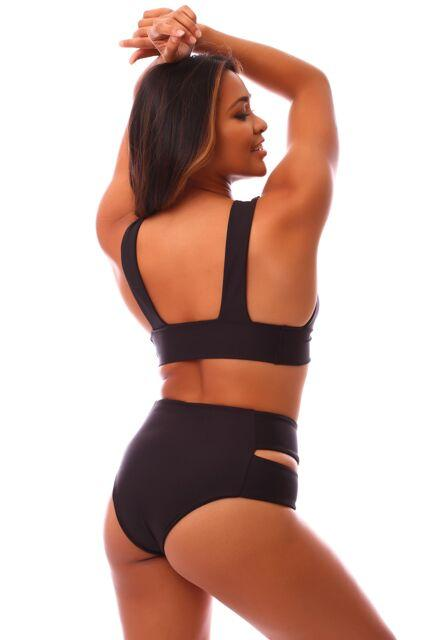 Black LUX High Waisted Bottoms