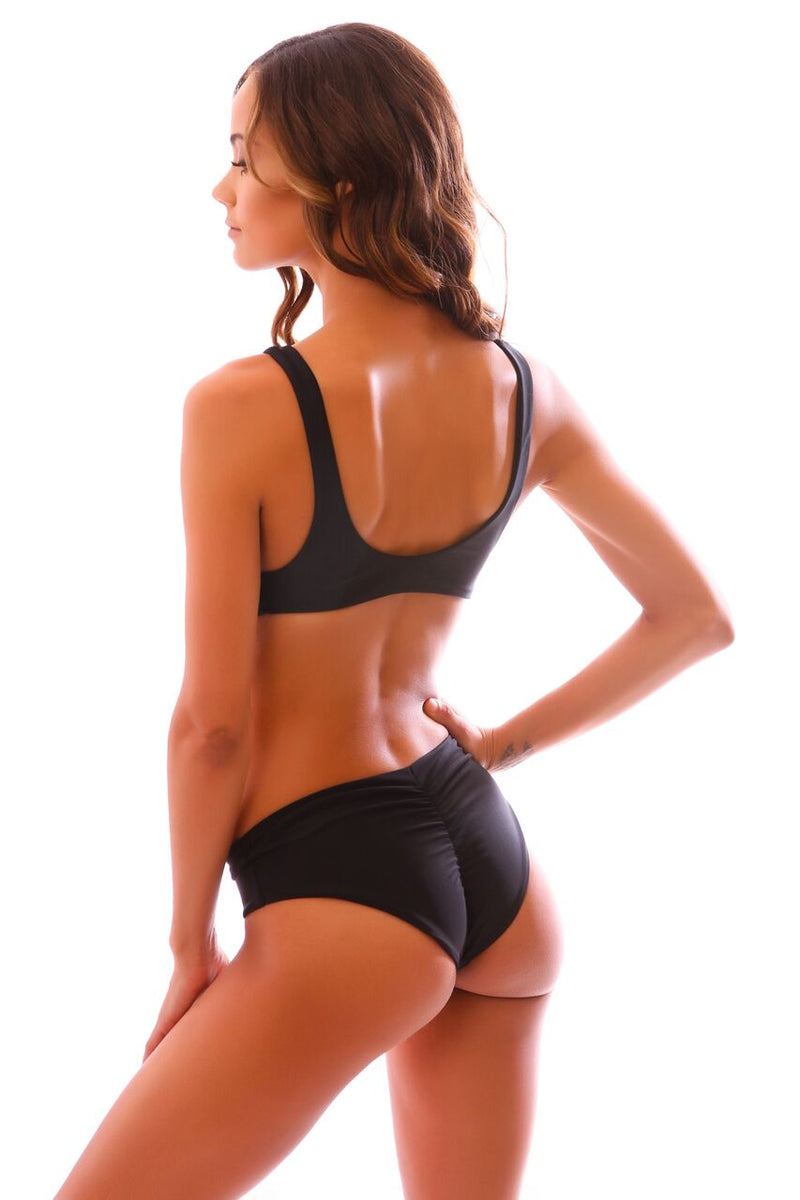 CLEARANCE: Black Mana Scrunch Bottoms
