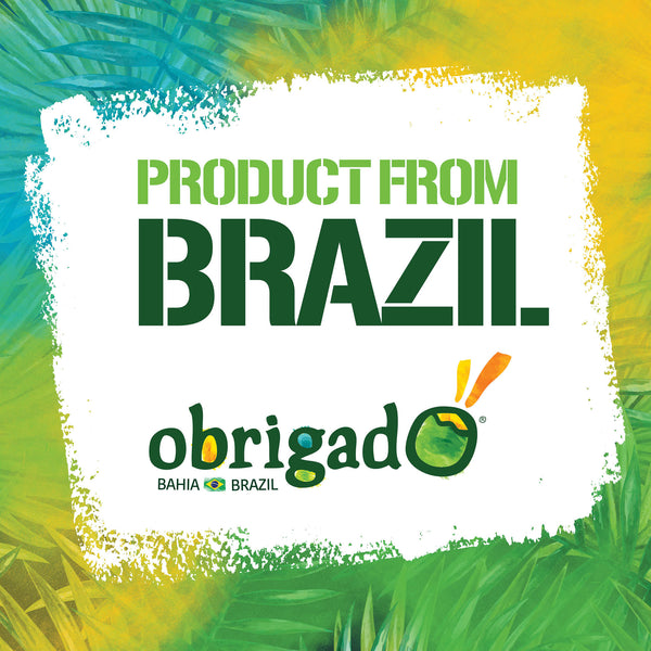 Obrigado Premium Brazilian Coconut Water with Mango and Acerola 100% Juice 400 mL/13.5 ounces (12 Pack)