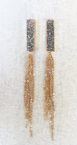 Druzy Chandelier Earrings