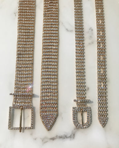Gold Crystal Belts