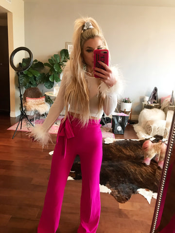 Wide Leg, High Waist Pants