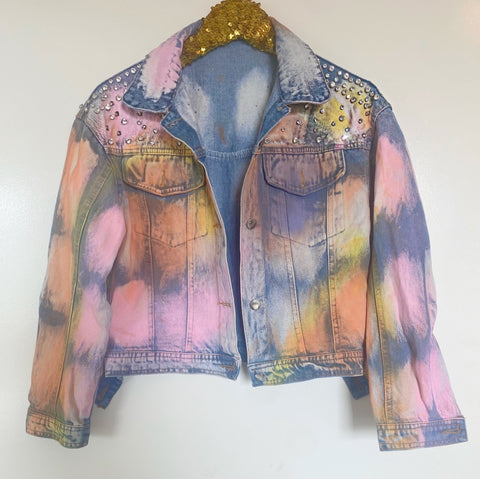 Rhinestone Painted Jacket