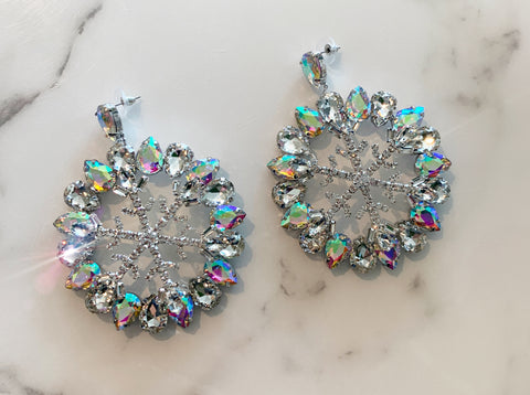 Snowflake Mega Glam Earrings