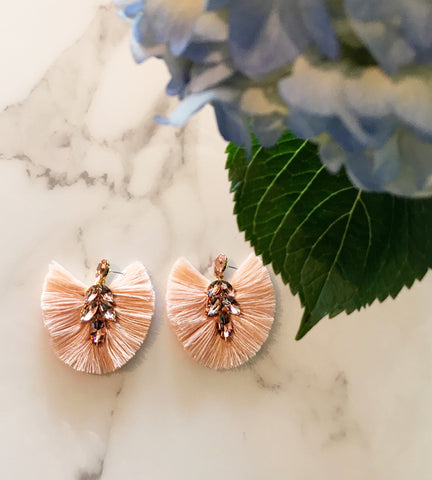 Peach Fan Earrings