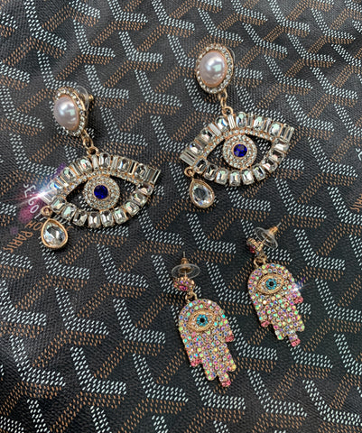 Evil Eye and Hamsa Earrings