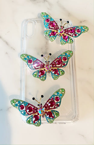 Hot Pink Butterfly Phone Case