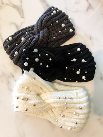 Pearl and Stud Ear Warmer Headbands