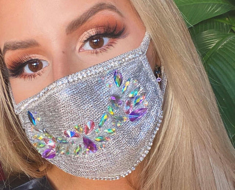 Silver Glam Mask