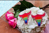 AB Rainbow Horn Earrings
