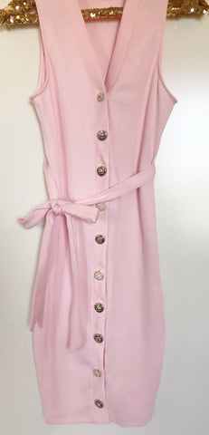 Pretty in Pink Button Dress