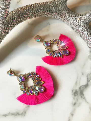 Hot Pink Mega Glam Earrings