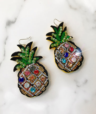 Pineapple Sequin Earrings