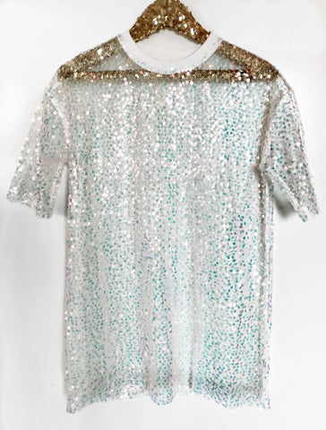 Iridescent Sequin Cover Up