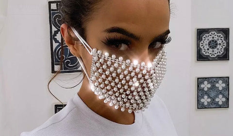 Pearl and Rhinestone Masks