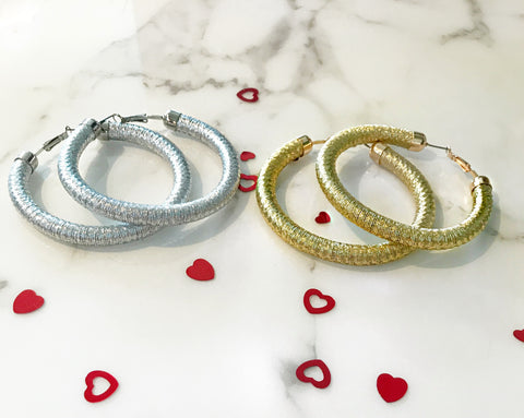 Gold and Silver Rope Hoops