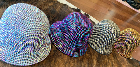 Rhinestone Bucket Hats