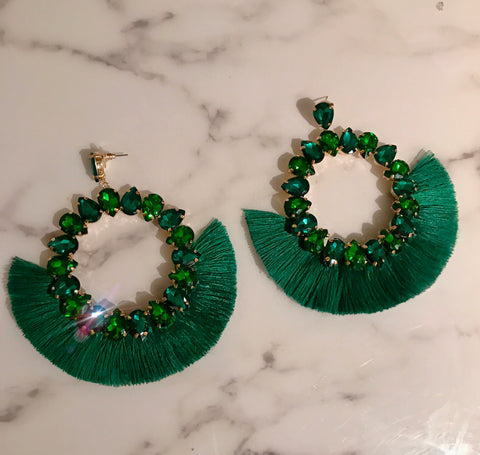 Emerald Mega Glam Hoops