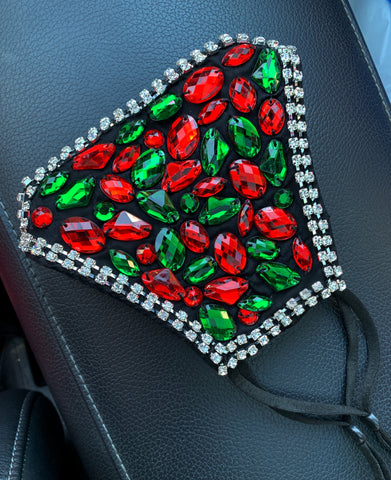 Red and Green Adjustable Mask