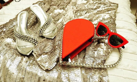 Rhinestone Heart Purse