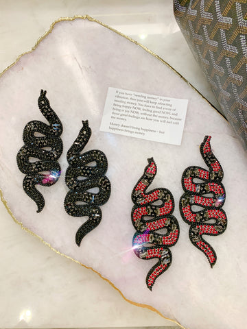 Black and Red Snakes