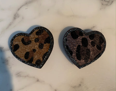 Leopard Heart Phone Grip
