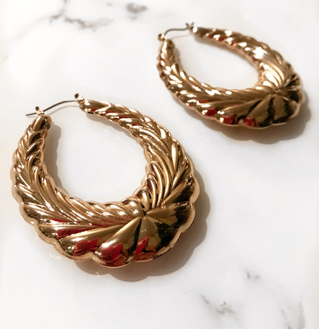 Gold Jennifer Hoops