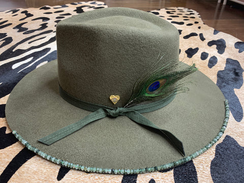 Green Panama Hat