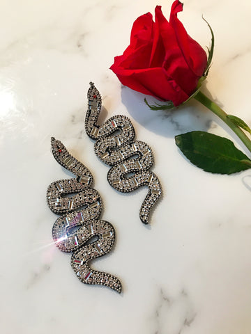 Clear Snake Earrings