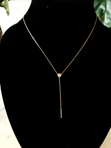 Gold/Silver Plated CZ Lariat