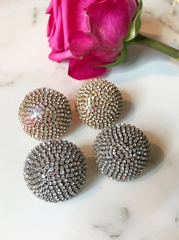 Crystal Button Studs