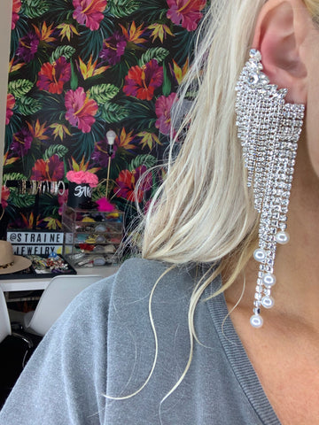 Rhinestone Drip Earrings