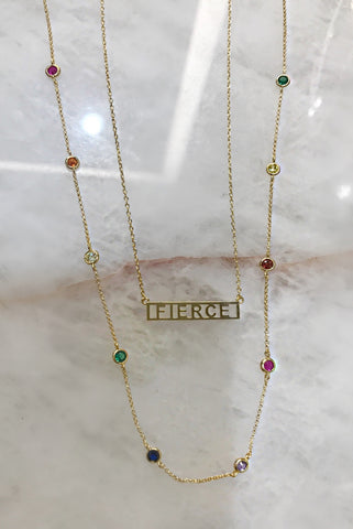 Rainbow Layering Necklace & Fierce Necklace