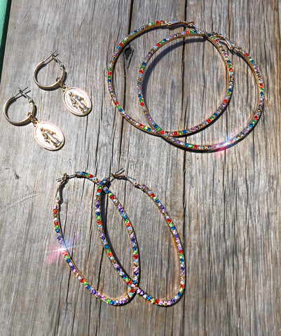 Multi Color Hoops and Rosary Hoops