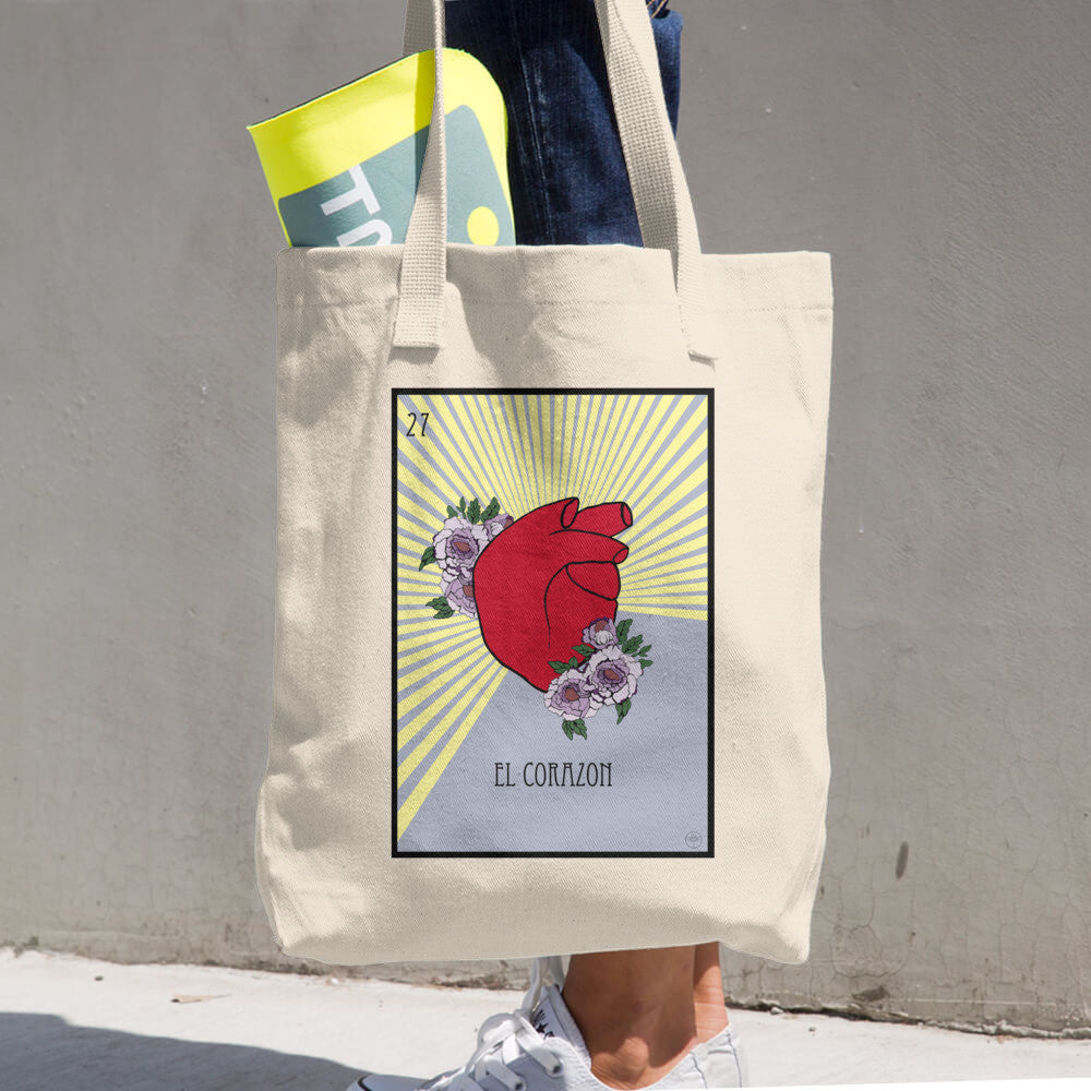El Corazon Cotton Tote Bag