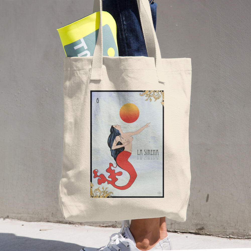 La Sirena Cotton Tote Bag - Ceiba