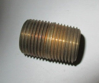 3/8 NPT brass closed nipple