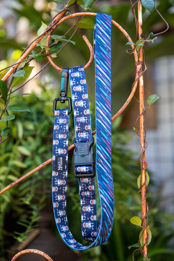 "B&P ""Spaced Out"" & ""Shooting Star"" Reversible Leash - Barkley and Pips"