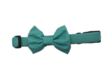 DOG COLLAR <br> & BOW TIE: <br> Light Blue (NEW)