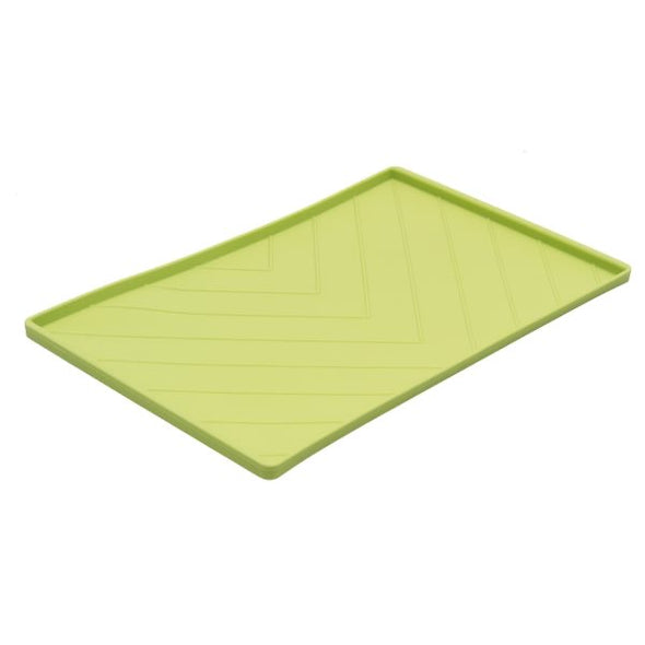 MESSY MUTTS: Silicone Food Mat Green