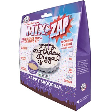 PETES TREATS: <br>Mix & Zap- YAPPY WOOF DAY CAKE