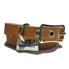 BUDDY BELT: Collar- Caramel Leather