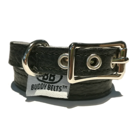 BUDDY BELT: Collar- Black Leather