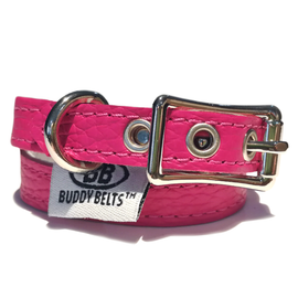 BUDDY BELT: Collar- Hot Pink Leather