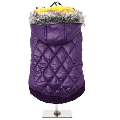 Thermo Quilted Parka <br> Purple & Yellow
