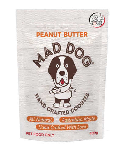 MAD DOG: Peanut Butter <br>Cookie Treats <br> 400gms