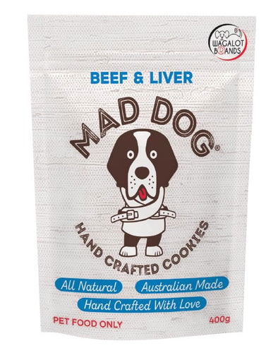 MADE DOG: Angus Beef & Liver <br> Cookie Treats <br> 400gms