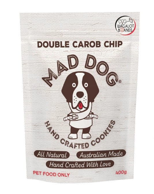MAD DOG: Double Carob <br>Chip Cookie Treat <br> 400gms