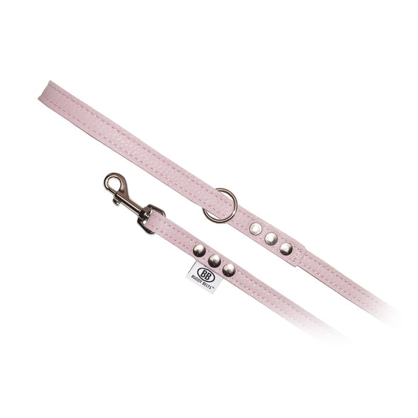 BUDDY BELT:<br>All Leather Leash<br>Pink